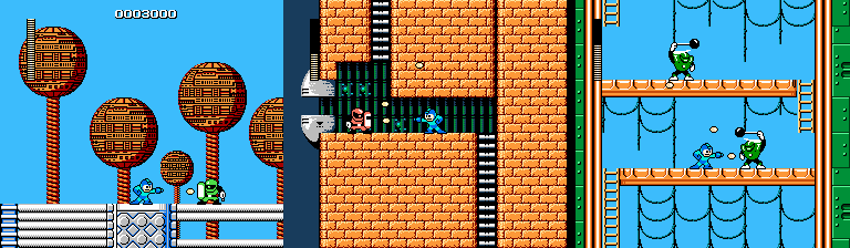 Joes in Mega Man 1, 2, and 3